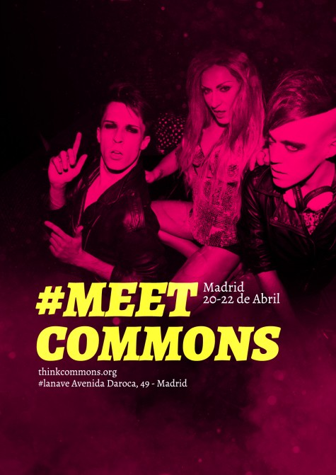 Cartel de <a href='https://voragine.net/etiquetas/meetcommons' rel='tag'>#meetcommons</a> 2012 realizado por Lacasinegra.