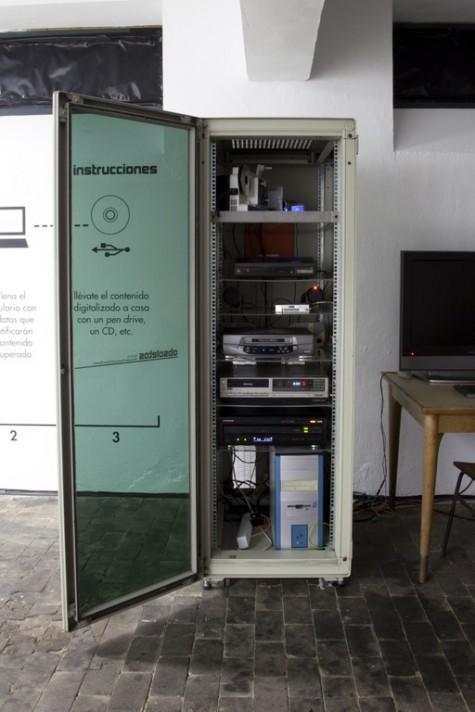 Recuperador Universal de Formatos Obsoletos (RUFO). Fotografía: Laboral Centro de Arte