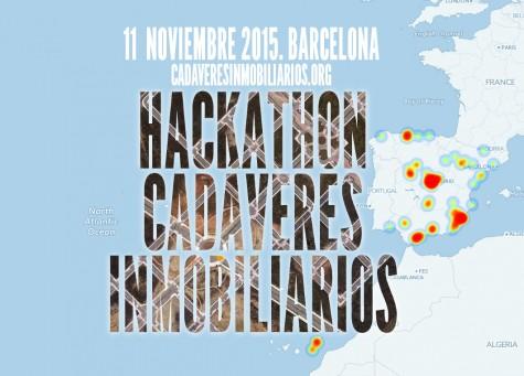 Cartel Hackathon Cadáveres Inmobiliarios 2015