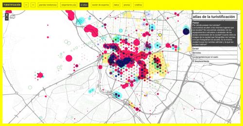 Captura de pantalla del Atlas de la turistificación