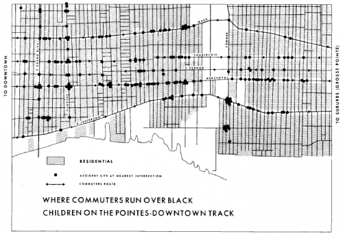 Where Commuters Run Over Black Children on the Pointes-Downtown Track