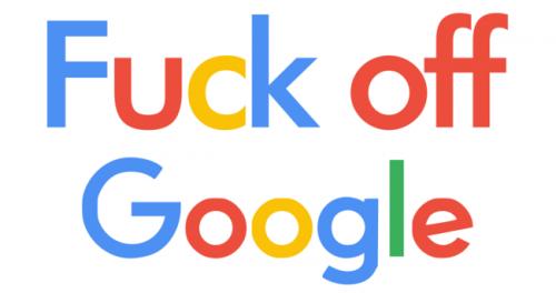 Logo Fuck off Google