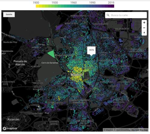 """Captura de pantalla de """"¿De qué año es tu casa? El mapa que muestra cómo se ha construido España"""""""
