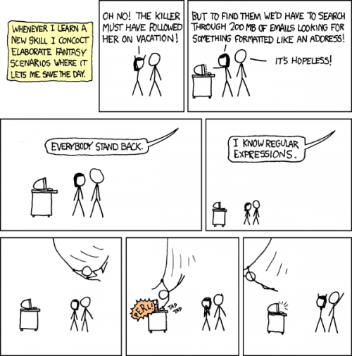 Regular Expressions by XQCD
