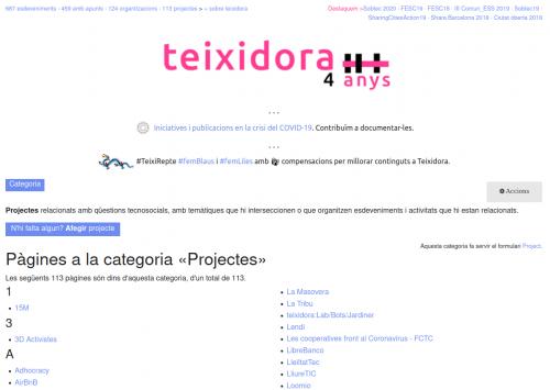 Captura de pantalla de teixidora.net