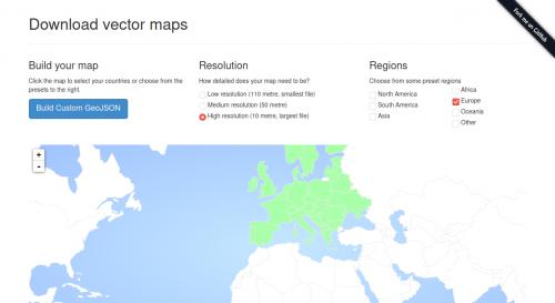 Captura de pantalla de GeoJSON Maps of the globe