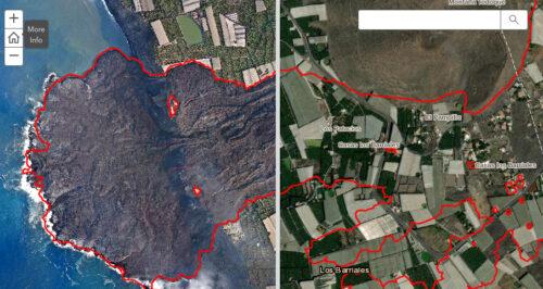 Captura de pantalla de volcan.lapalma.es